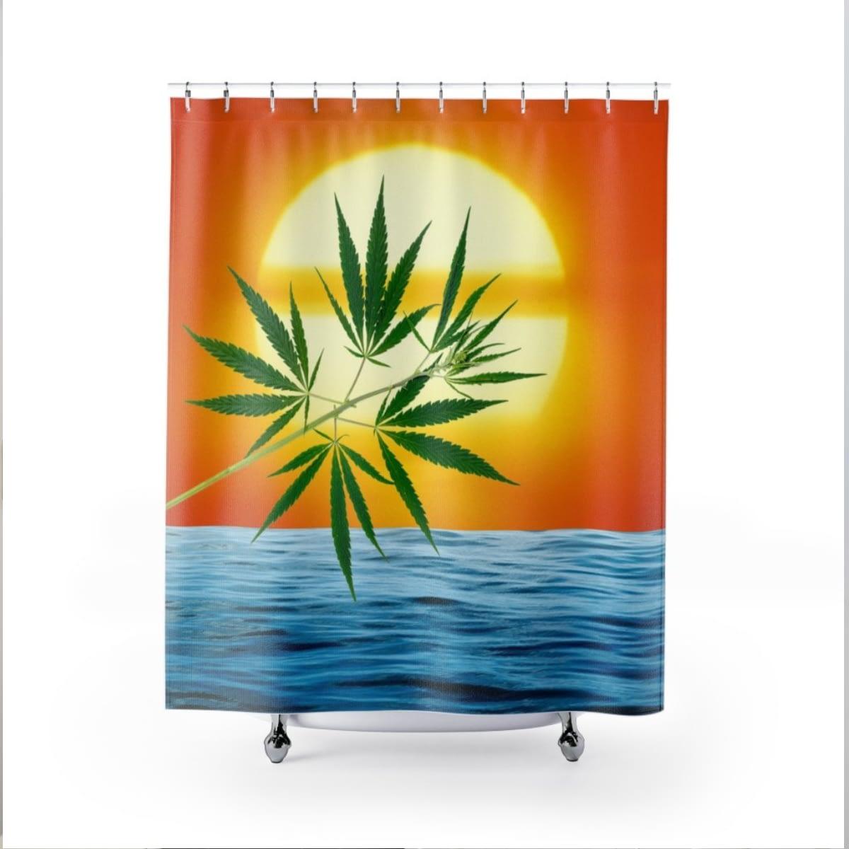 Un'alba Con La Cannabis Shower Curtain