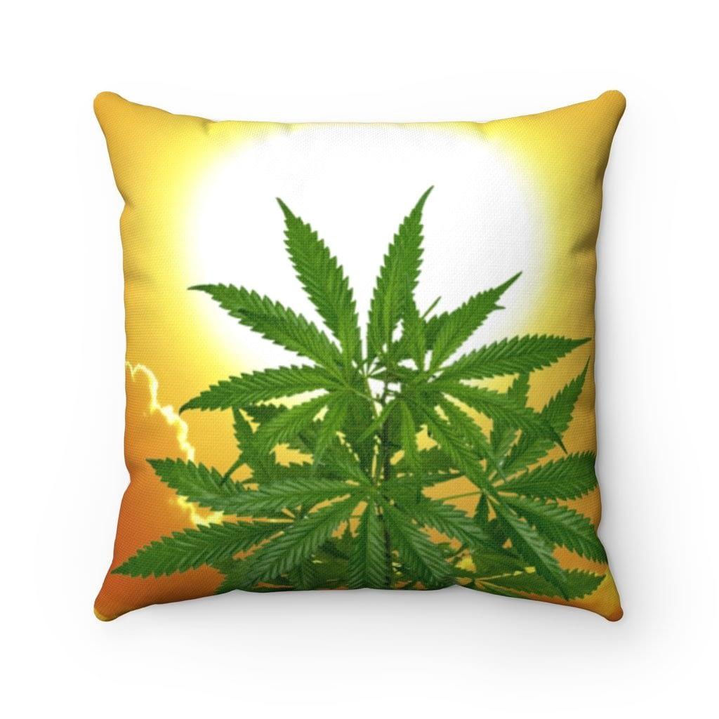 Bella Alba Cannabis Spun Polyester Square Pillow