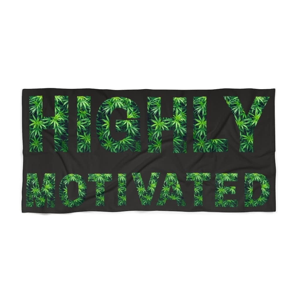 Highly Motivated Beach Towel