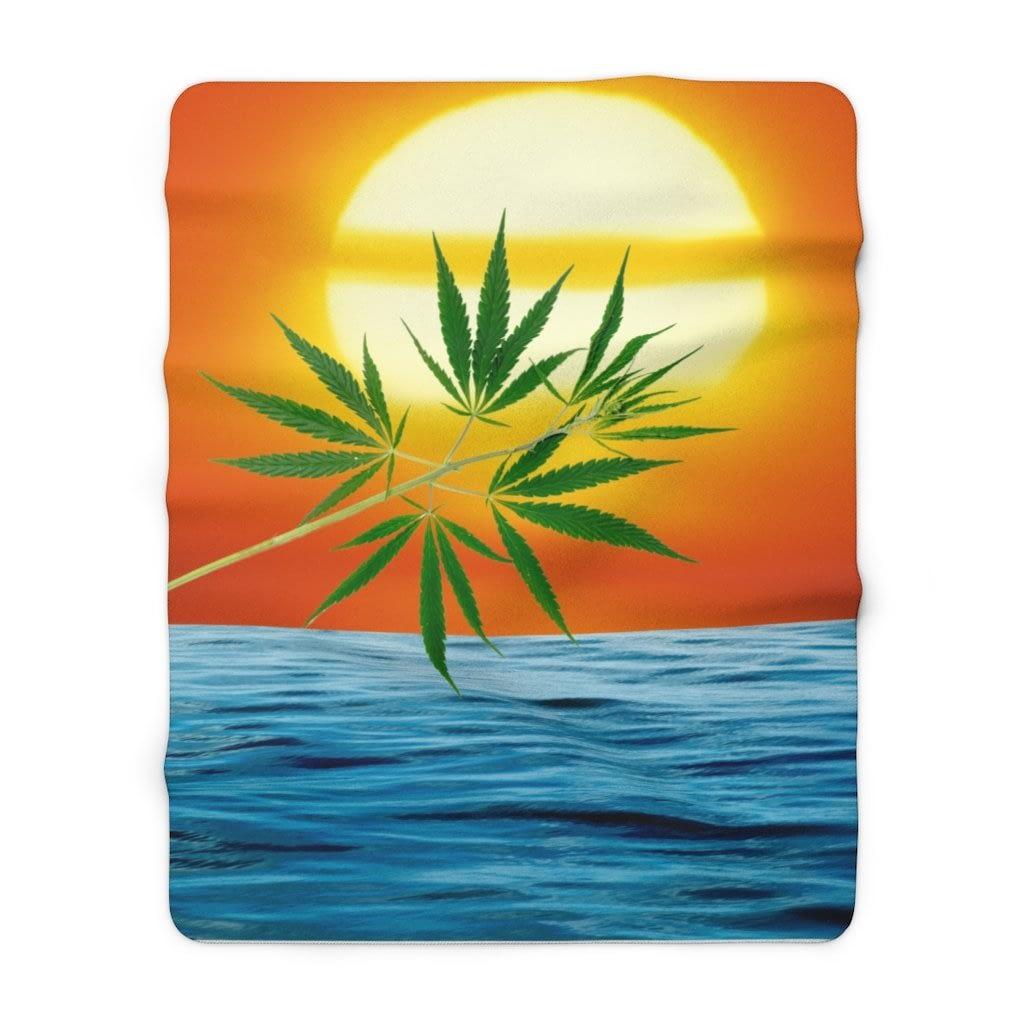 Un'alba Con La Cannabis Sherpa Fleece Blanket