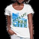 Elevate Your Life, Mind Body & Spirit Ladies Scoop Neck T-Shirt
