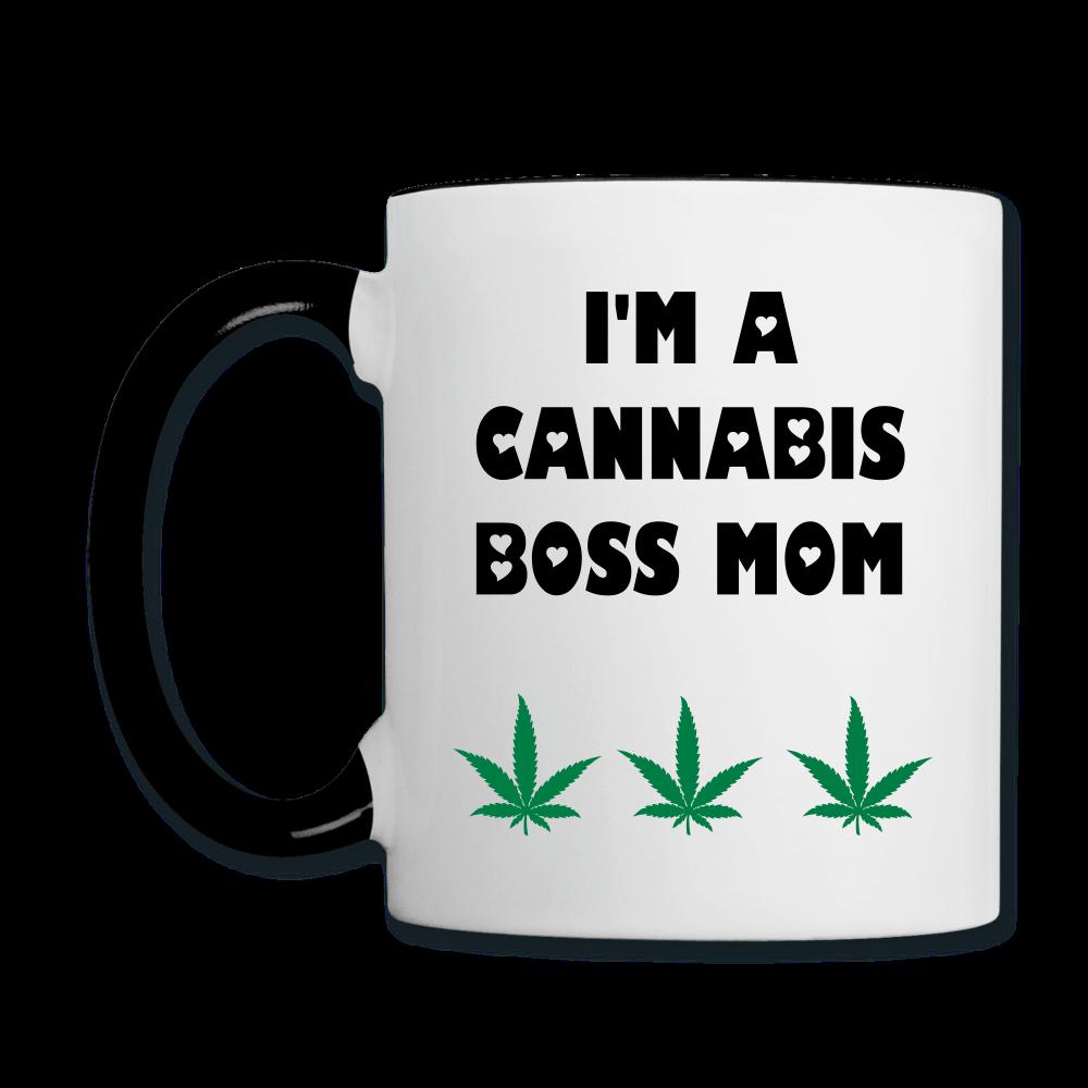I'm A Cannabis Boss Mom, What's Your Super Power Contrast Mug.
