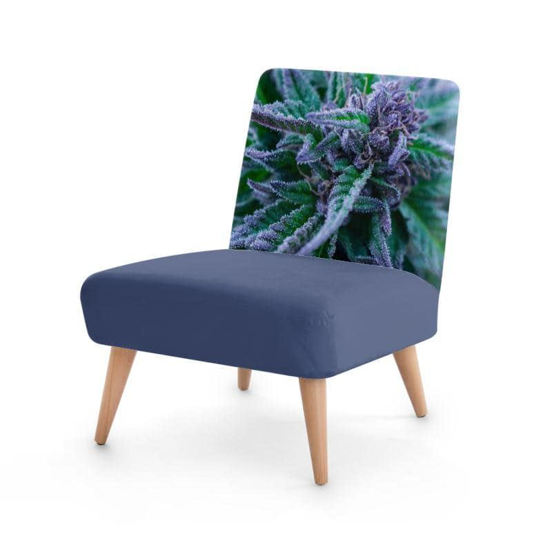 Blue Cannabis Designer Chair