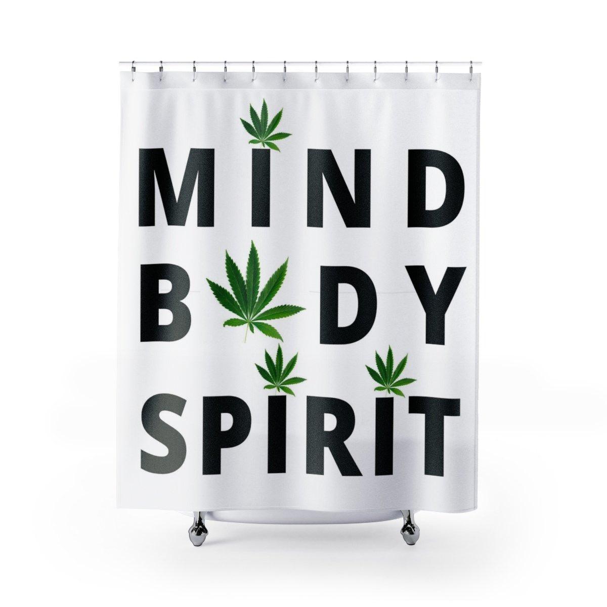 Mind Body Spirit Cannabis Shower Curtain