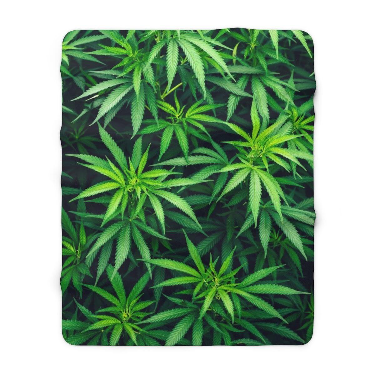 My Cannabis Sherpa Fleece Blanket