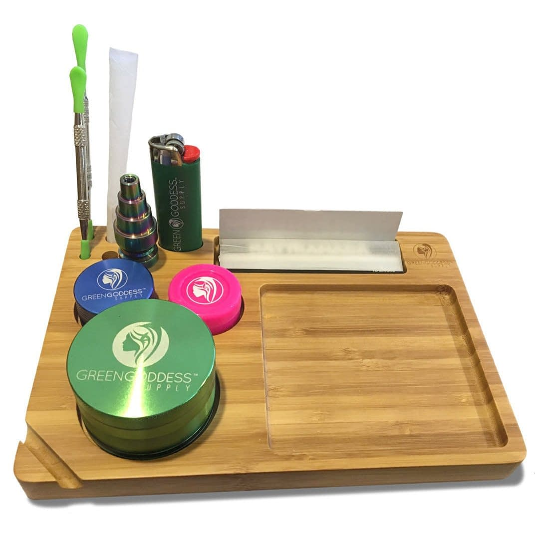 Bamboo Rolling Tray (9″ x 6″)