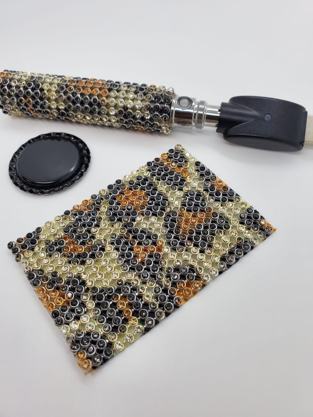 Vape Modification Mod Kit MAGNAVAPE© Vape Stand Kit Smoking Vape Battery COVER 510 Thread Battery 710 420 Stoner Skin Black Brown Leopard