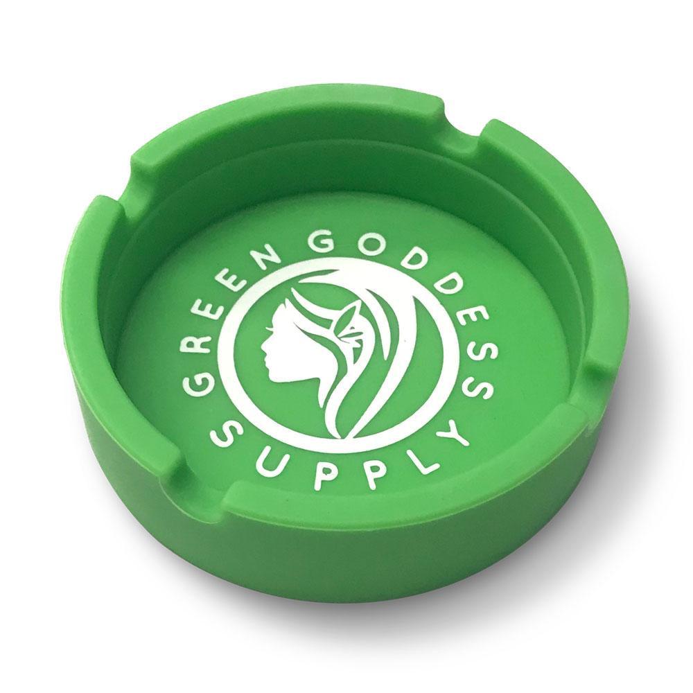 Round Silicone Ashtray – Green