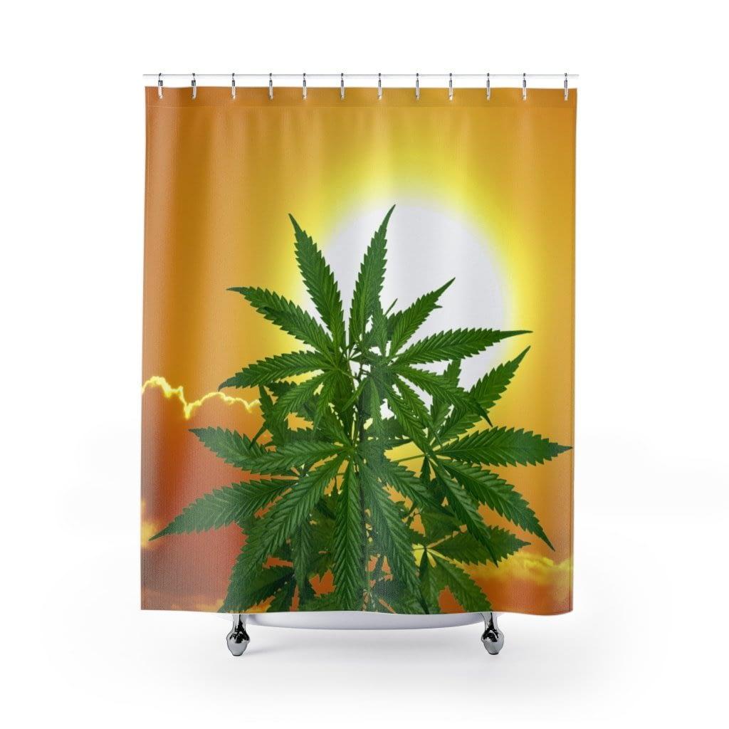 Bella Alba Cannabis Shower Curtain