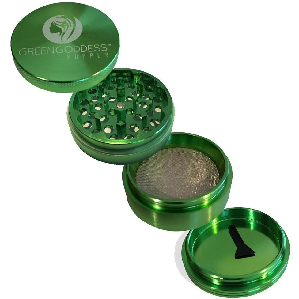 2.5″ 4-Piece Aluminum Grinder – Green