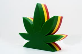 3D Cannabis Leaf – FREE shipping