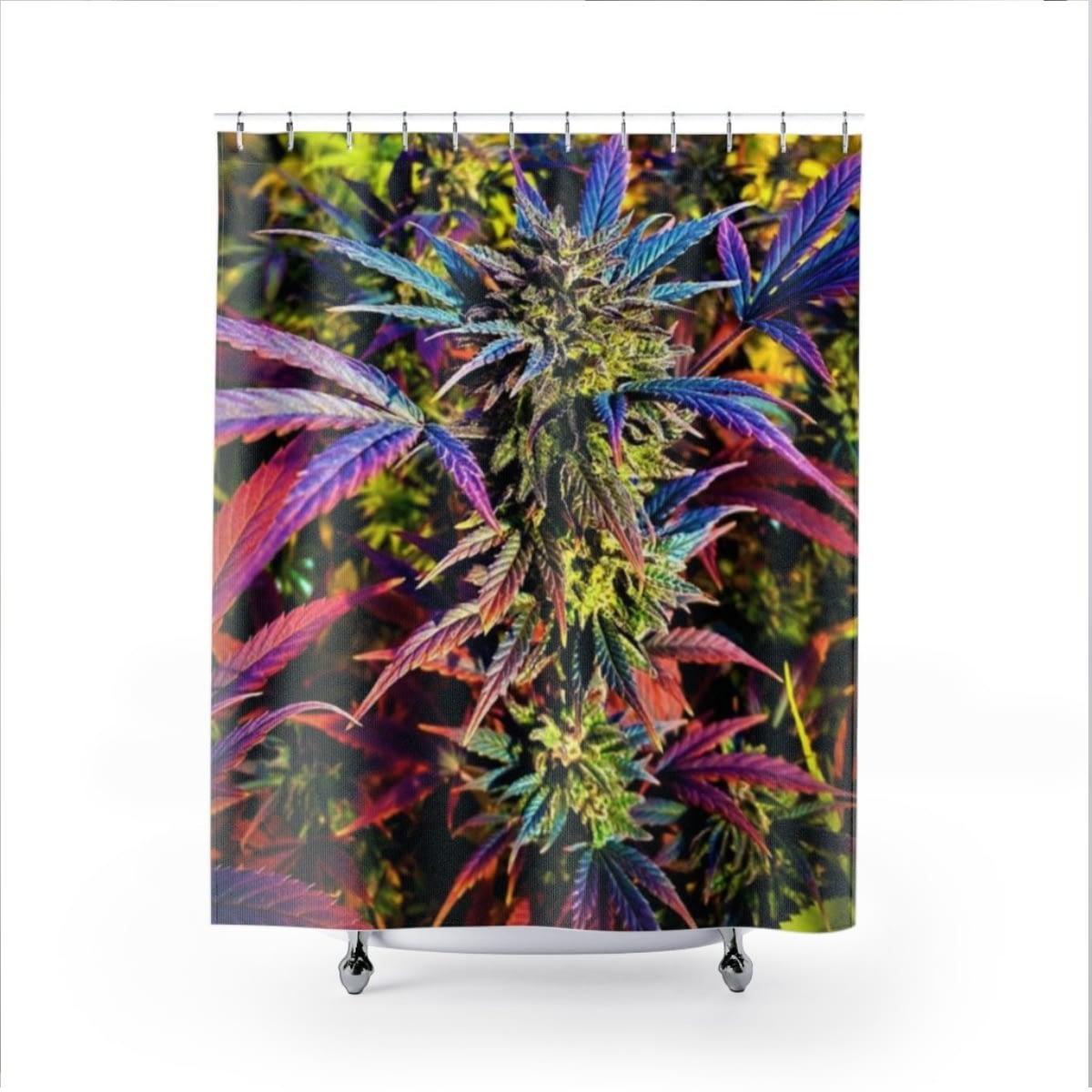 My Rainbow Cannabis Shower Curtain