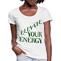 Elevate Your Energy Sativa Strains Ladies Scoop Neck T-Shirt