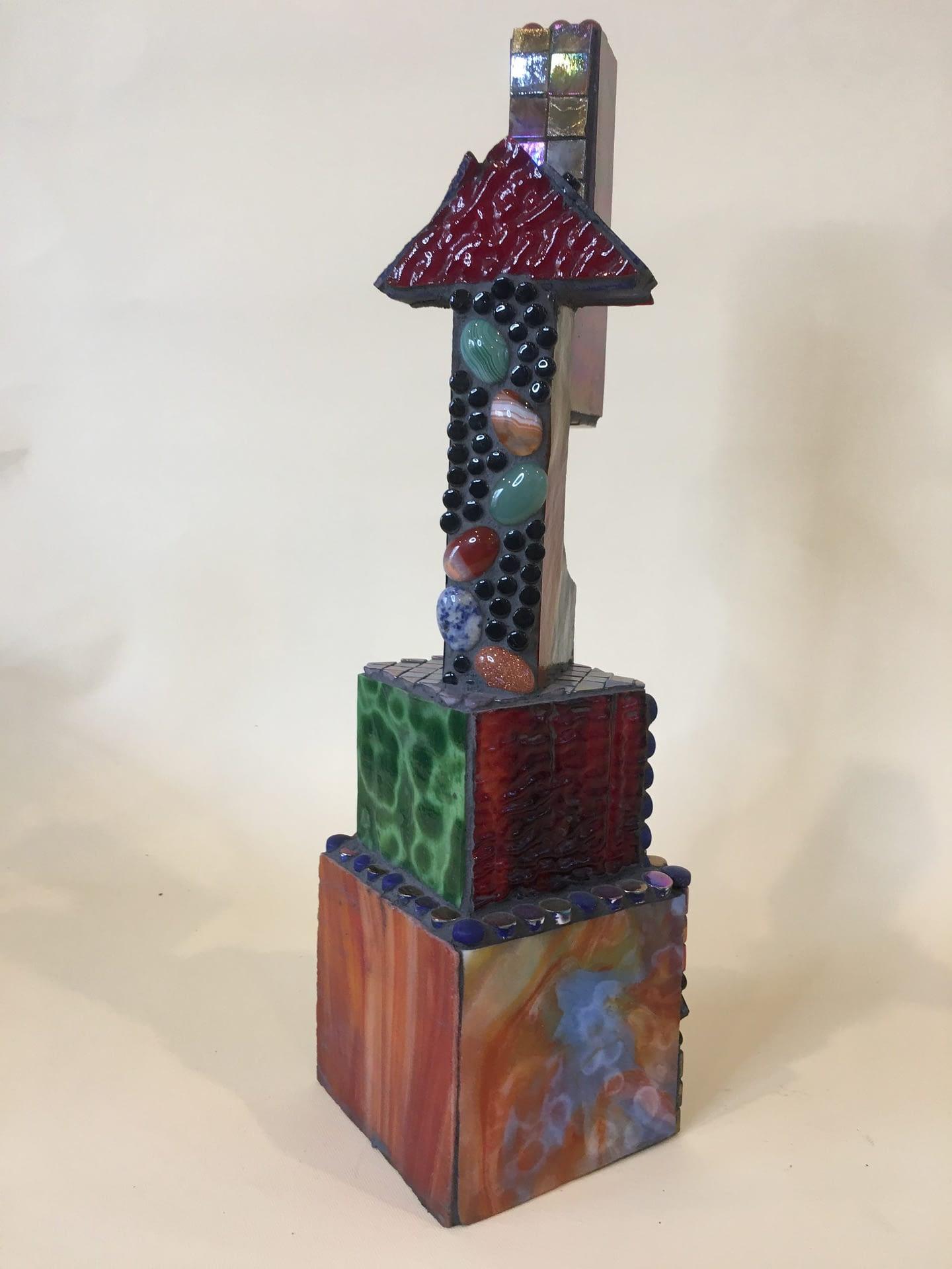 Glass Mosaic over wood sculpture No. 8
