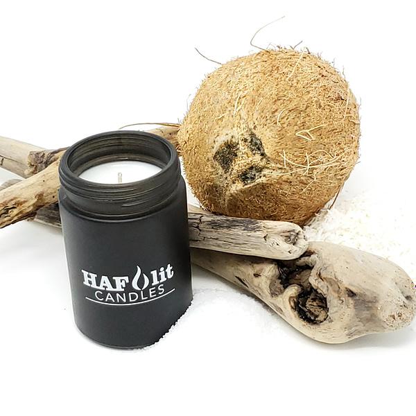 HAFlit candle Beach Vibes sea salt coconut driftwood