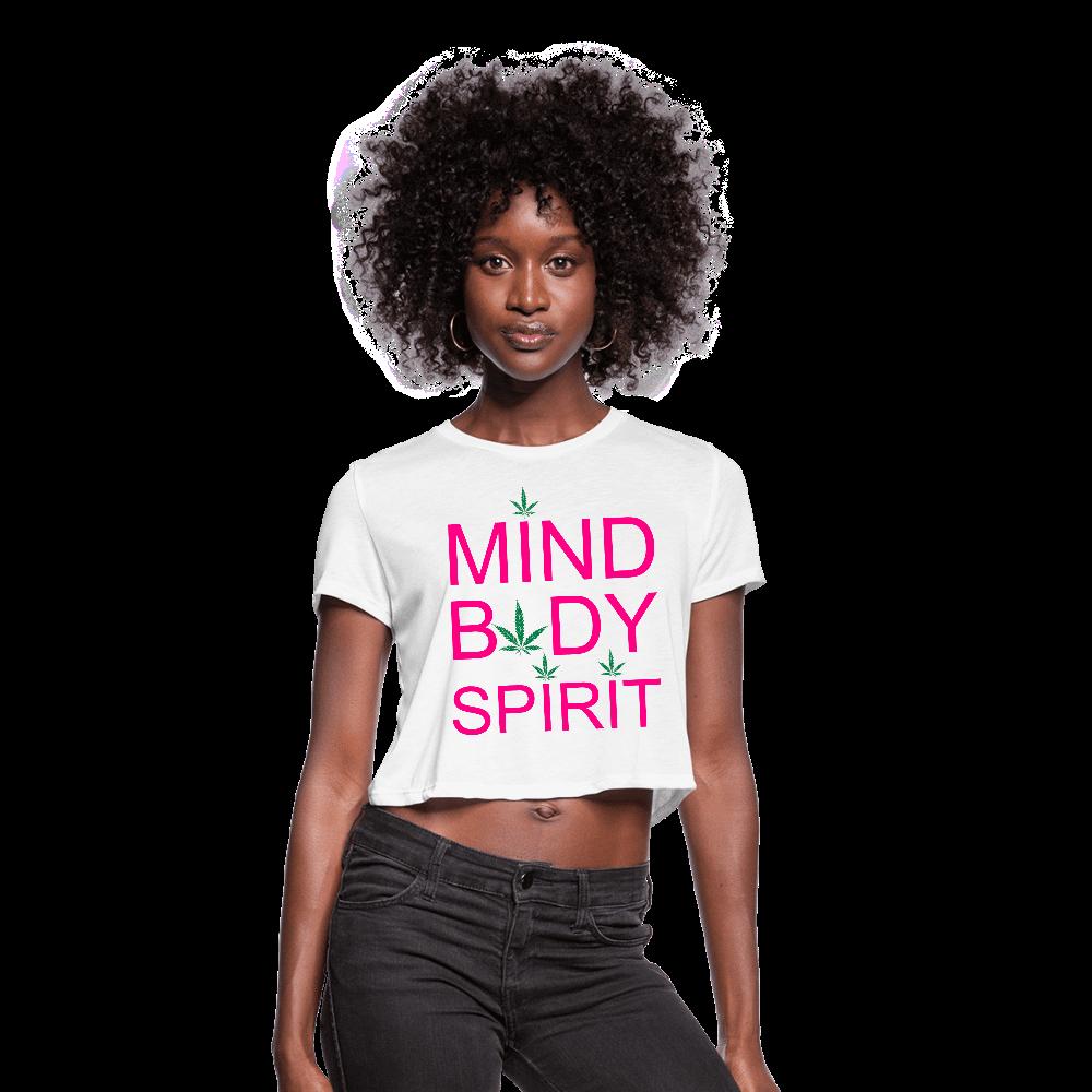 Mind Body Spirit Ladies Cropped T-Shirt