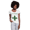 Mind Body Spirit Ladies Scoop Neck T-Shirt- White Or Gray
