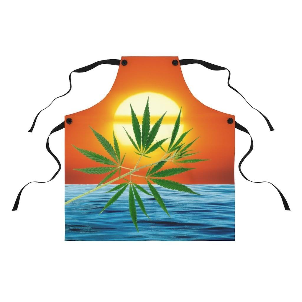 Un'alba Con La Cannabis Apron