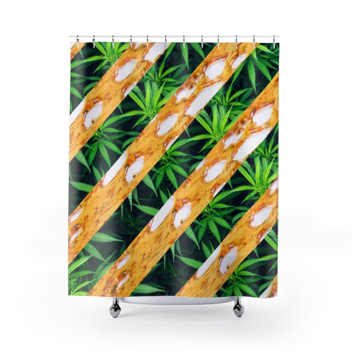CannaDab Cannabis Shower Curtain
