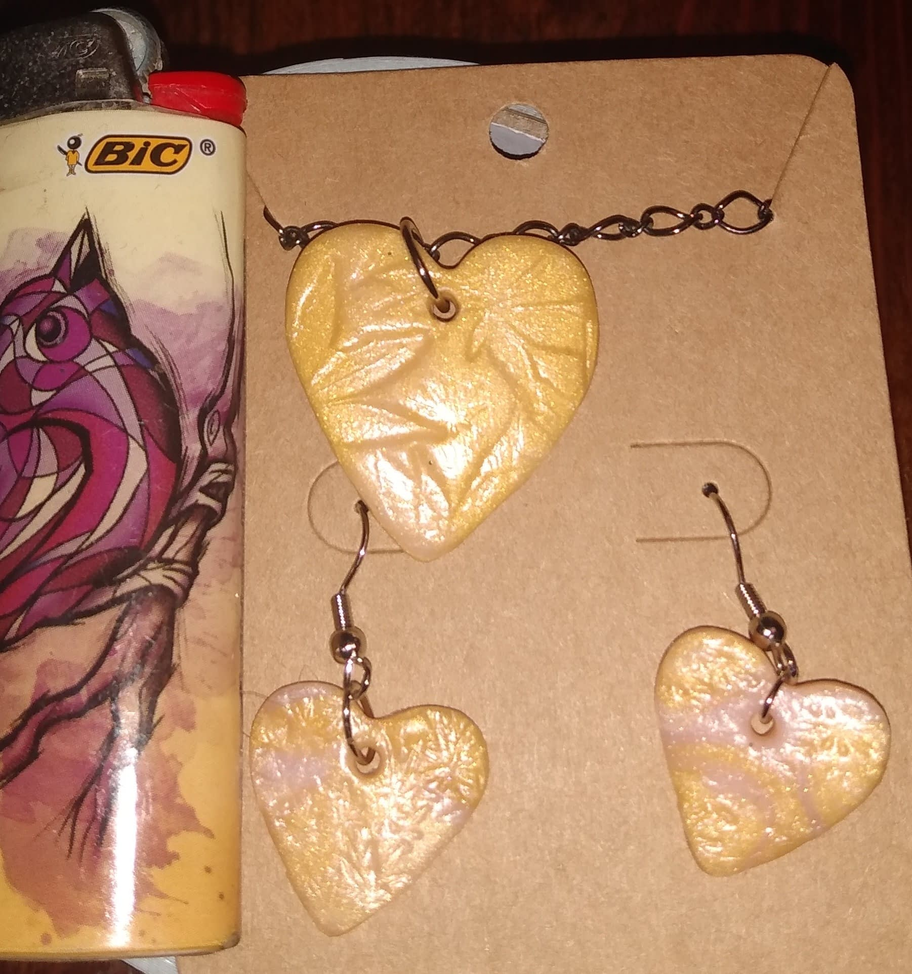 Cannabis Heart Jewelry Set