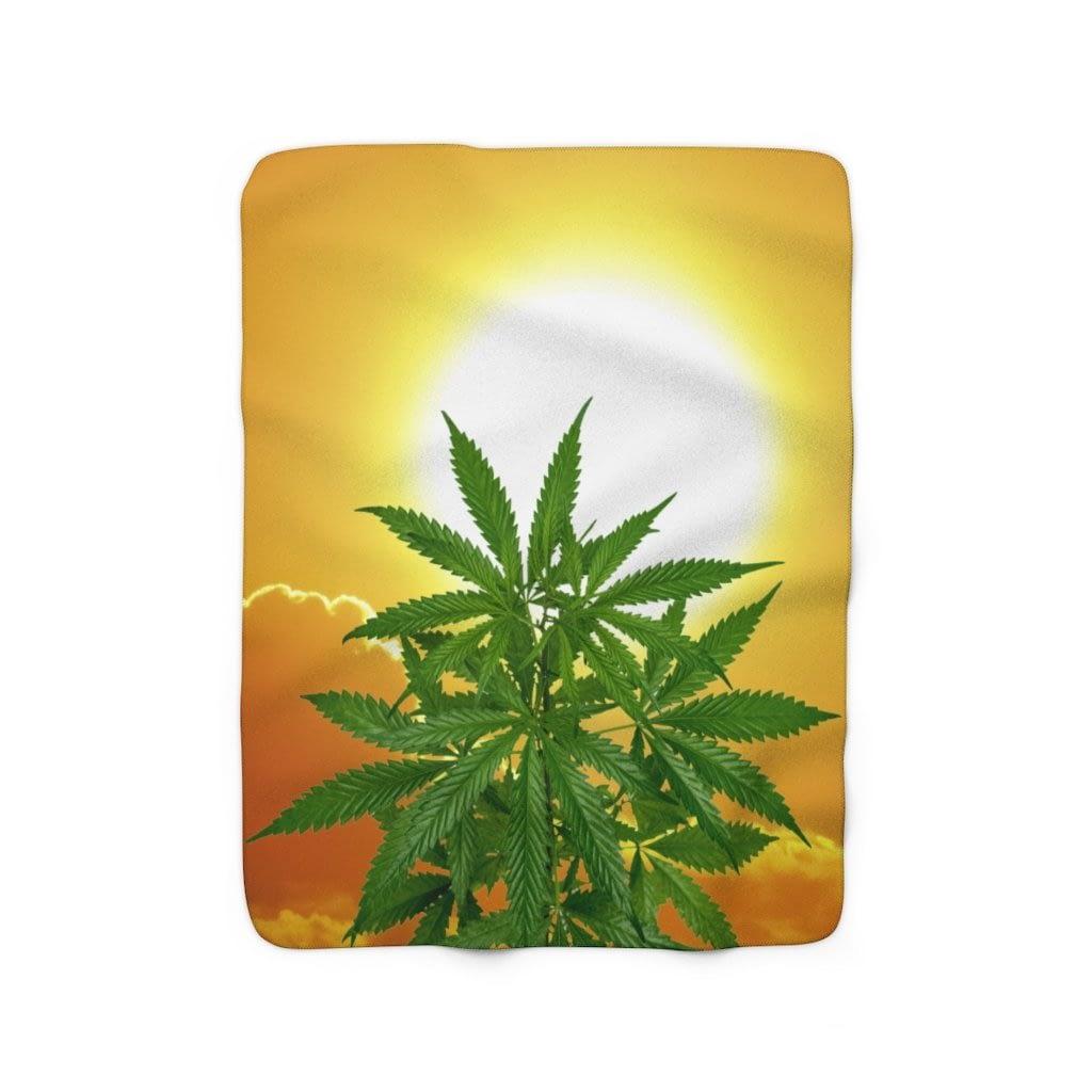 Bella Alba Cannabis Sherpa Fleece Blanket