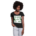 Healing Is An Art Ladies Scoop Neck T-Shirt