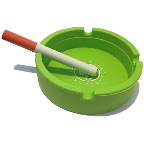 Round Silicone Ashtray - Green