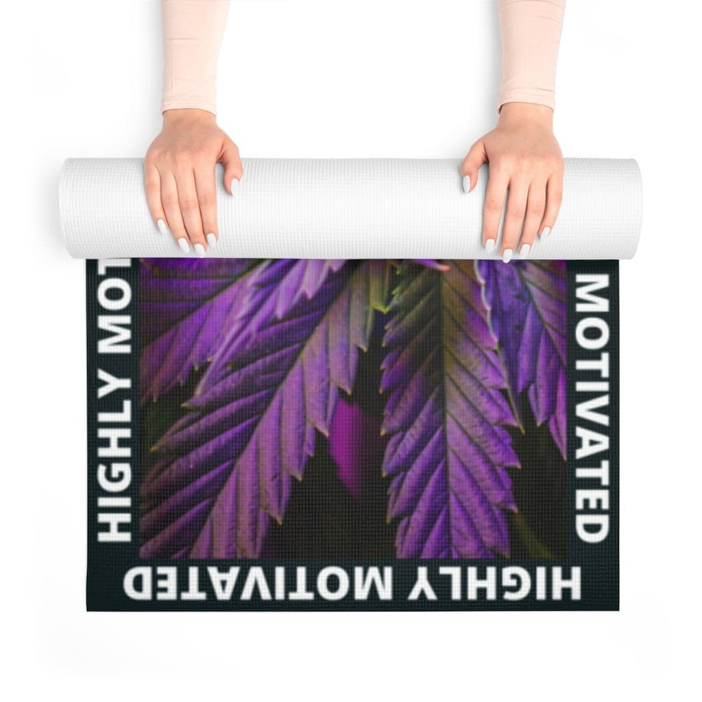 Highly Motivated Cannabis Foam Yoga Mat