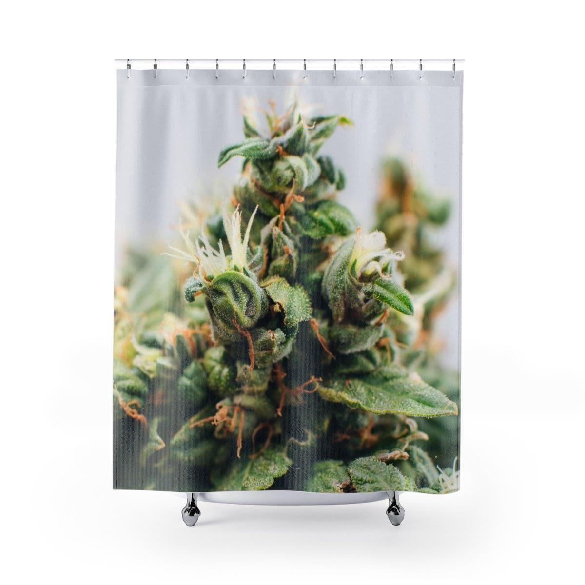 CannabBloom Cannabis Shower Curtain