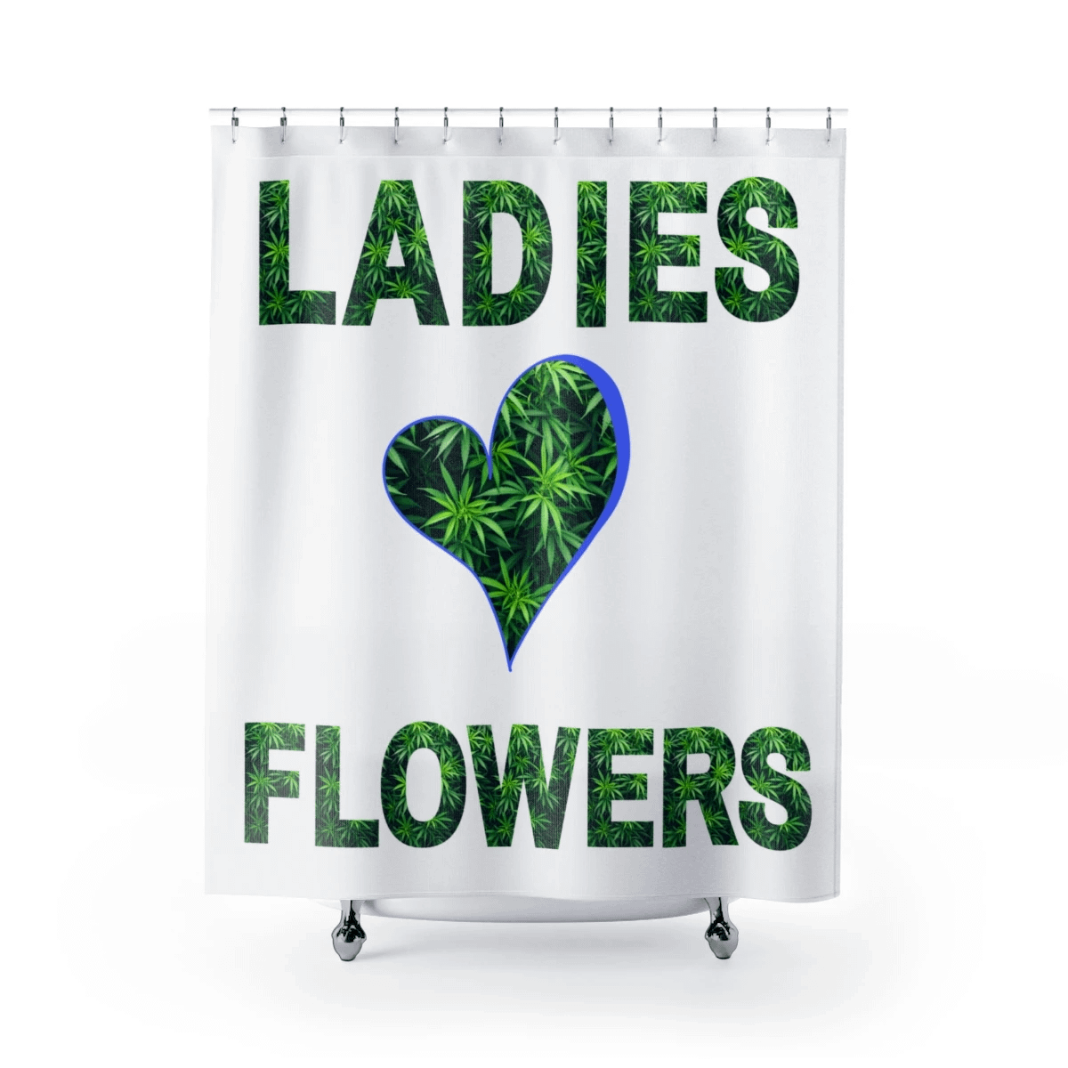 Ladies Love Flowers Shower Curtain